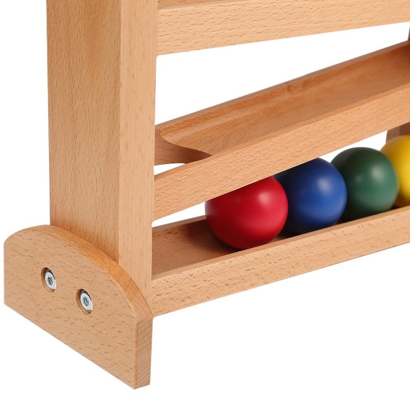 LEADER JOY Montessori Wooden Push Ball Baby Toys