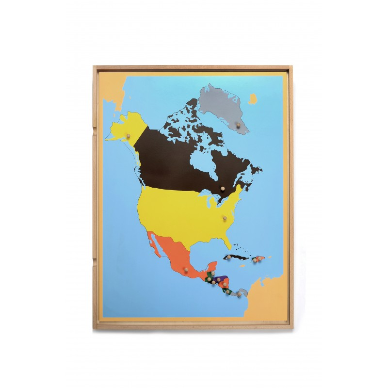 Open Back Map Puzzle W Tray North America Ljge005a By