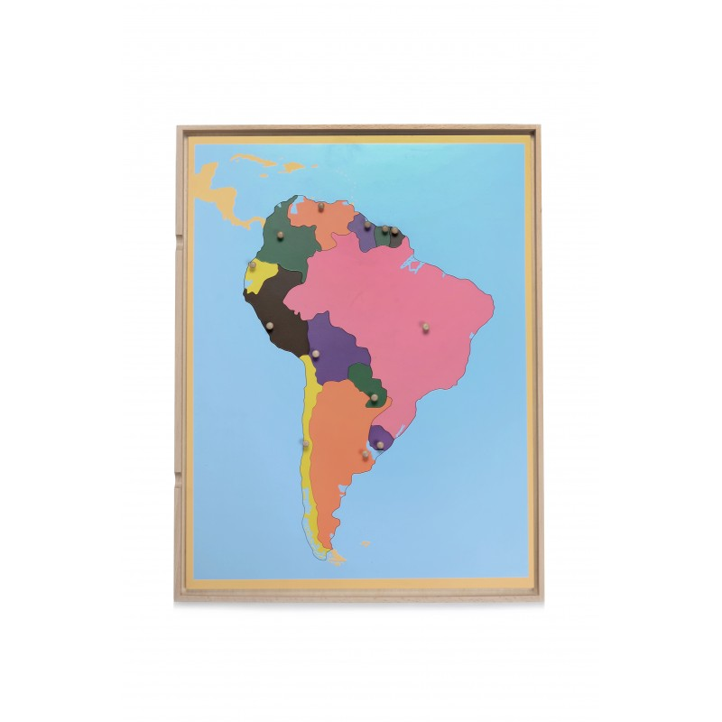 Open Back Map Puzzle W/Tray - South America (LJGE006A) by Leader Joy ...