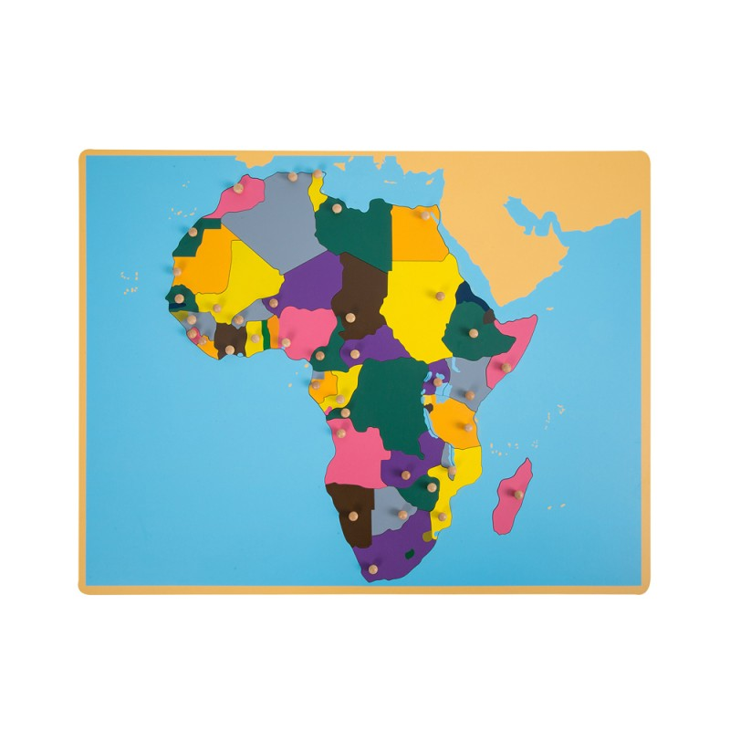 Puzzle Map of Africa (LJGE007) by Leader Joy Montessori USA