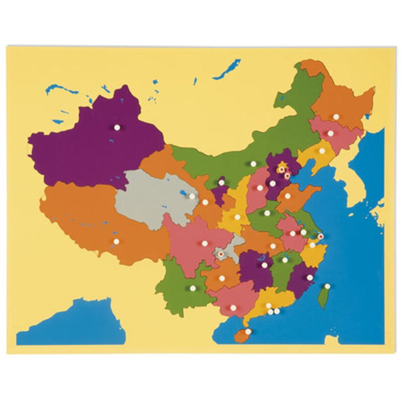 Puzzle Map of China (LJGE021) by Leader Joy Montessori USA