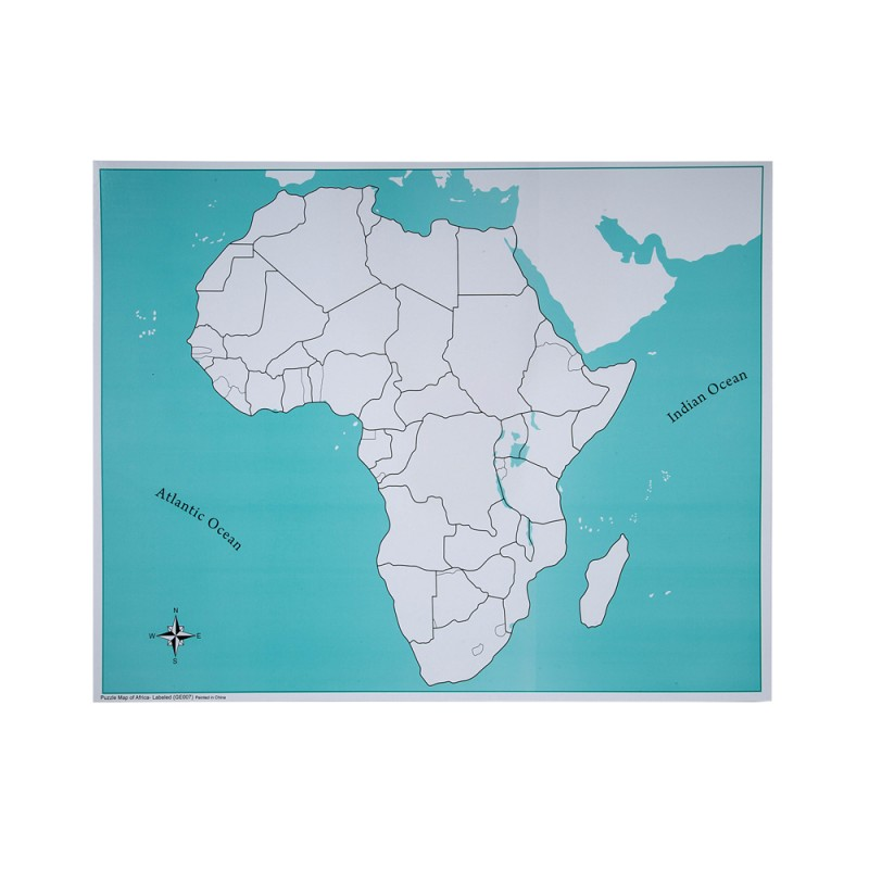 Unlabeled Africa Control Map