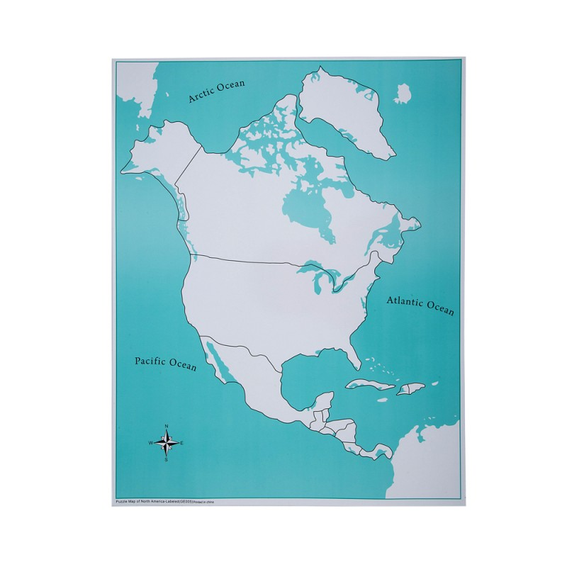 Map Of North America Unlabeled.Unlabeled North America Control Map Ljge005 2 By Leader Joy