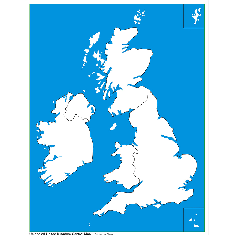 Unlabeled UK Control Map (LJGE020-2) by Leader Joy Montessori USA
